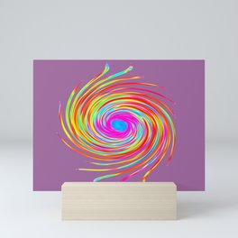 Colourful Rainbow Spiral Mini Art Print
