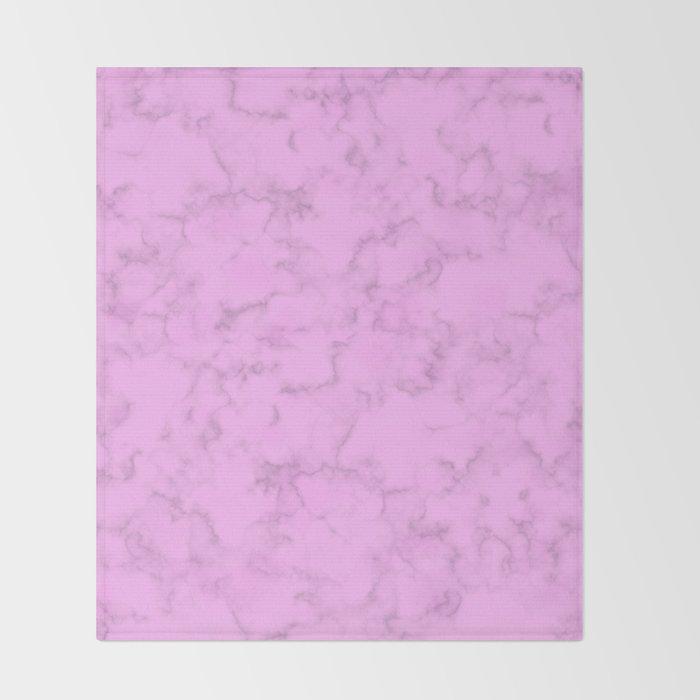 Pink Marble Throw Blanket