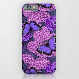 Blue morpho garden 2 iPhone Case
