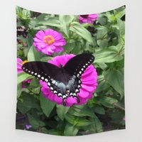 wings Wall Tapestries featuring Wings by Lillian Ondus