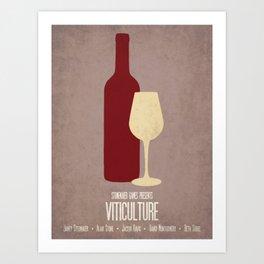 Viticulture - Minimalist Board Games 03 Art Print