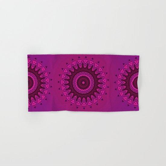 Deep purple mandala Hand & Bath Towel