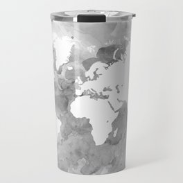 Design 49 Grayscale World Map Travel Mug