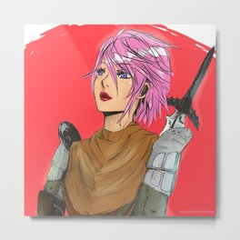 Suited Up And Ready For Battle Metal Print
