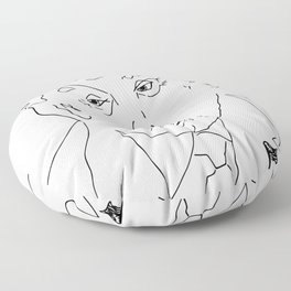 Trump Illustration Floor Pillow