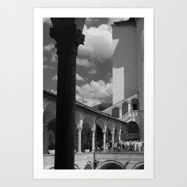 assisi b&w Art Print