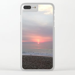 Sunrise over the horizon Clear iPhone Case