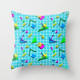 80s scooters Throw Pillow