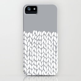 Half Knit Grey iPhone Case