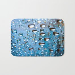Water Drops on Glass Bath Mat