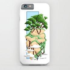 Pixel Landscape : Flying Rock iPhone 6s Slim Case