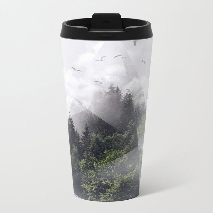 Forest triangle Metal Travel Mug