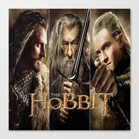 the hobbit Canvas Prints featuring  Hobbit by ira gora