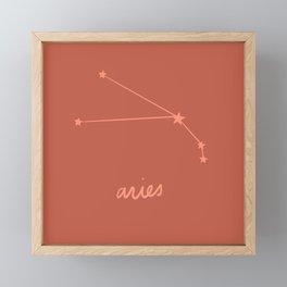 Aries - Zodiac Constellation Framed Mini Art Print