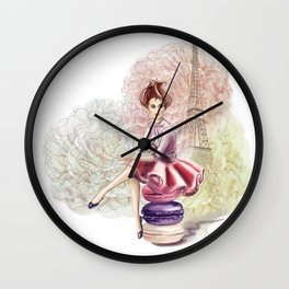 Sweet Paris Wall Clock