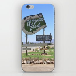 Middle of nowhere motel iPhone Skin