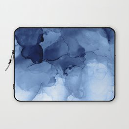 Blue Abstract Painting, Windmill Photography Laptop Sleeve
