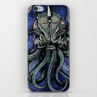 kraken iPhone & iPod Skins featuring Kraken by Spooky Dooky