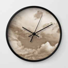 Sepia Summer Skies Wall Clock
