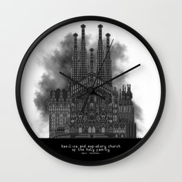 HexArchi - Spain, Barcelona, Basilica and Expiatory Church of the Holy Family Wall Clock