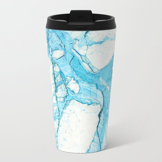 Blue marble Metal Travel Mug