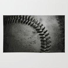 Black and white Baseball Rug