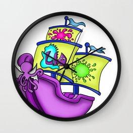 Little Monster Pirate Ship Wall Clock