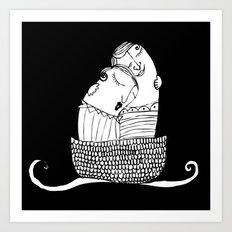Abrazo en Bote Art Print