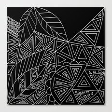Abstract black and white pattern. Orange juice . Canvas Print