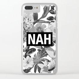NAH B&W Clear iPhone Case
