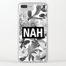 NAH B&W Clear iPhone Case