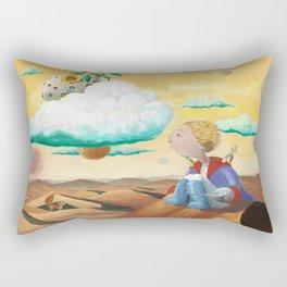 Little Prince with sunflower Rectangular Pillow