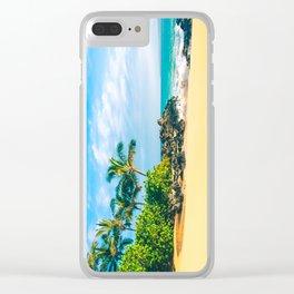 Paako Beach Makena Maui Hawaii Clear iPhone Case