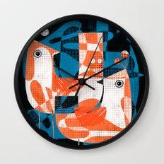 LEAFY BIRDS Wall Clock