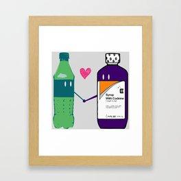 Lean in Love Framed Art Print