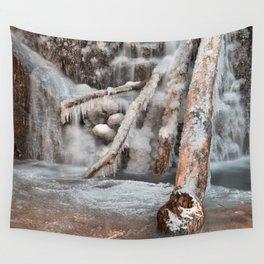 Frozen Avalon Falls Wall Tapestry