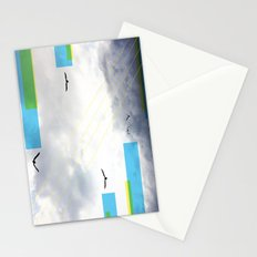 Birds and Lines Stationery Cards