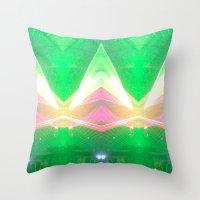 illuminati Throw Pillows featuring Illuminati by Alison Manno