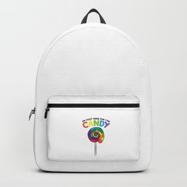 I'm Just Here For The Candy Lollipop Bag of Sweets Lolly Backpack