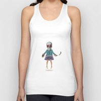 superhero Tank Tops featuring Superhero #9 by Nazario Graziano