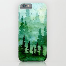 Deep in the pine woods iPhone Case