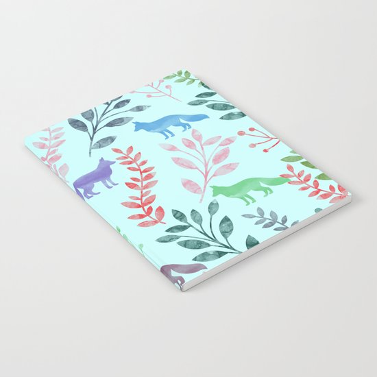Watercolor Floral & Fox Notebook