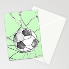 Goal in green Stationery Cards