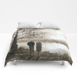 Waterside in Sepia Comforters