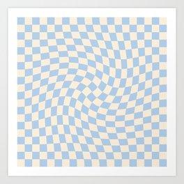 Check II - Baby Blue Twist Art Print