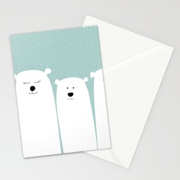 Polar people Stationery Cards