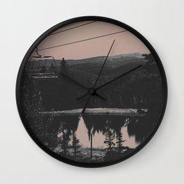 Muddy Pink Wall Clock