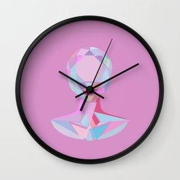 Diamond woman Portrait Wall Clock