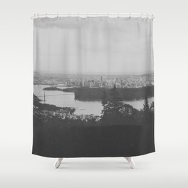 vancouver from cypress mountain. Shower Curtain