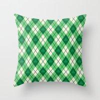 irish Throw Pillows featuring Irish Argyle by Fimbis